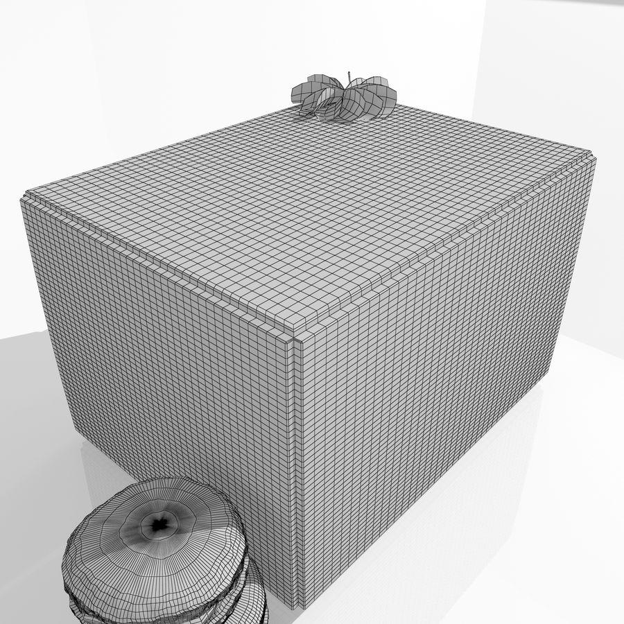 Confezione regalo Torta francese macaron royalty-free 3d model - Preview no. 9