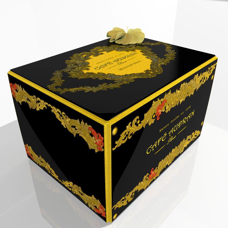 Confezione regalo Torta francese macaron royalty-free 3d model - Preview no. 3