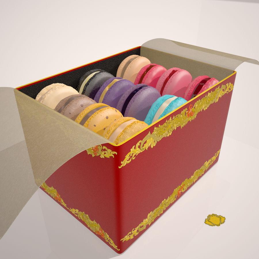 Confezione regalo Torta francese macaron royalty-free 3d model - Preview no. 5