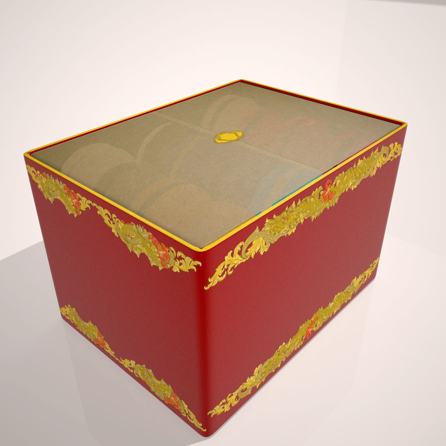 Confezione regalo Torta francese macaron royalty-free 3d model - Preview no. 4