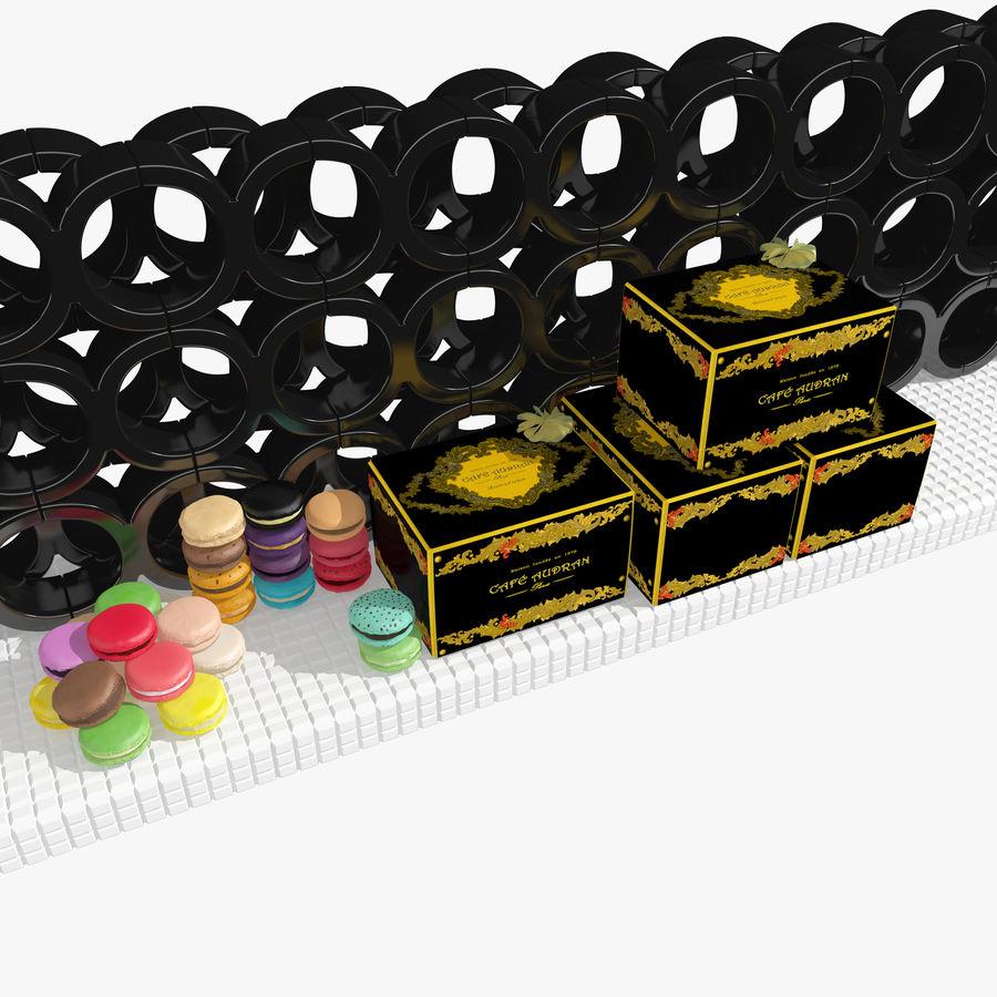 Confezione regalo Torta francese macaron royalty-free 3d model - Preview no. 7
