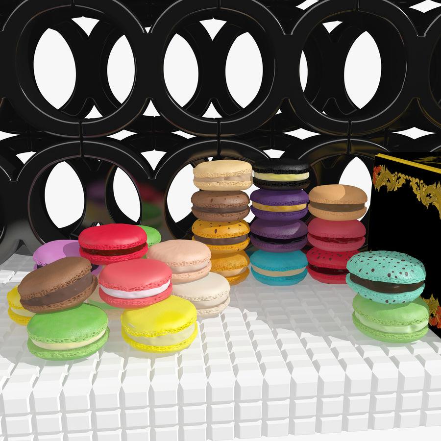 Confezione regalo Torta francese macaron royalty-free 3d model - Preview no. 8