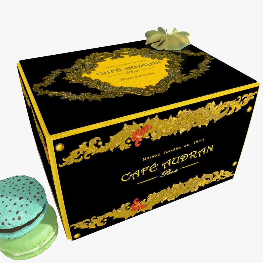 Confezione regalo Torta francese macaron royalty-free 3d model - Preview no. 1
