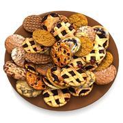プレートコレクションに休日の伝統的なチョコレートクッキー甘いミンスを焼く 3d model