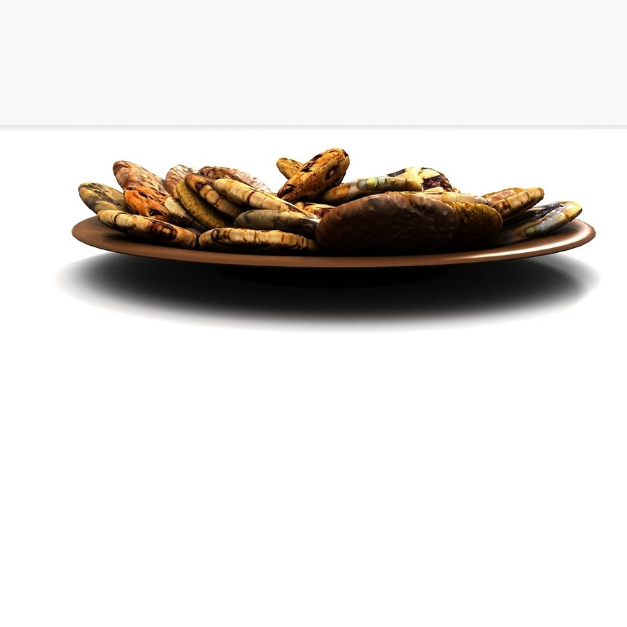 Bake Holiday Traditional Chocolate Cookies Sweet Mince On Plate Collection royalty-free 3d model - Preview no. 3