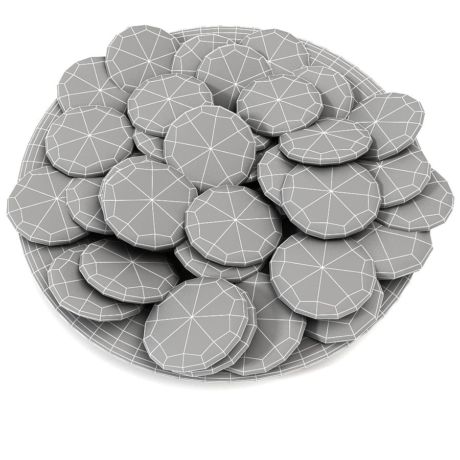 Bake Holiday Traditional Chocolate Cookies Sweet Mince On Plate Collection royalty-free 3d model - Preview no. 12