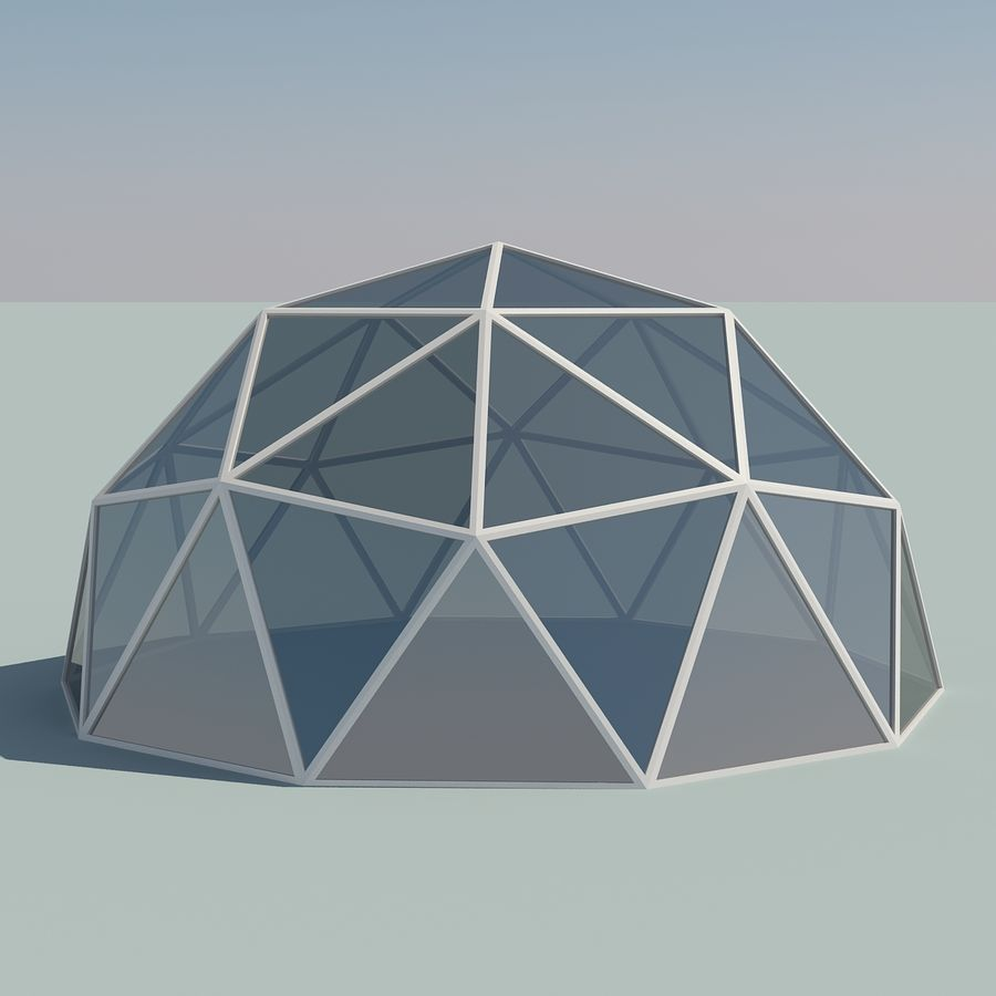 Geodesic Domes royalty-free 3d model - Preview no. 4