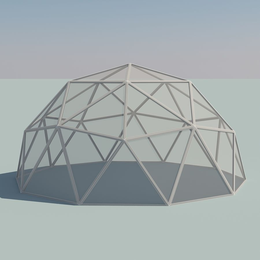 Geodesic Domes royalty-free 3d model - Preview no. 8
