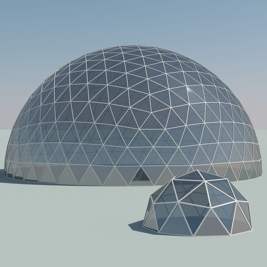 Geodesic Domes royalty-free 3d model - Preview no. 2