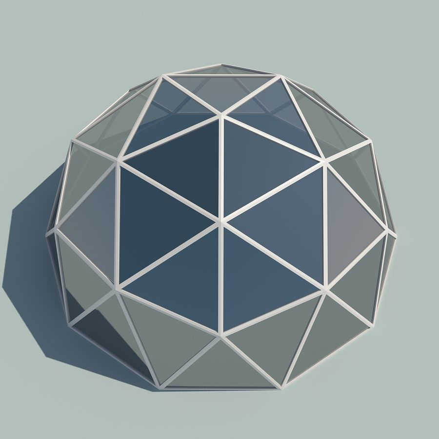 Geodesic Domes royalty-free 3d model - Preview no. 5