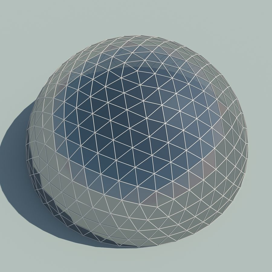 Geodesic Domes royalty-free 3d model - Preview no. 7