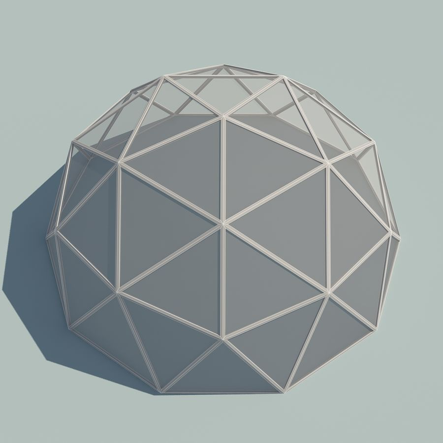 Geodesic Domes royalty-free 3d model - Preview no. 9