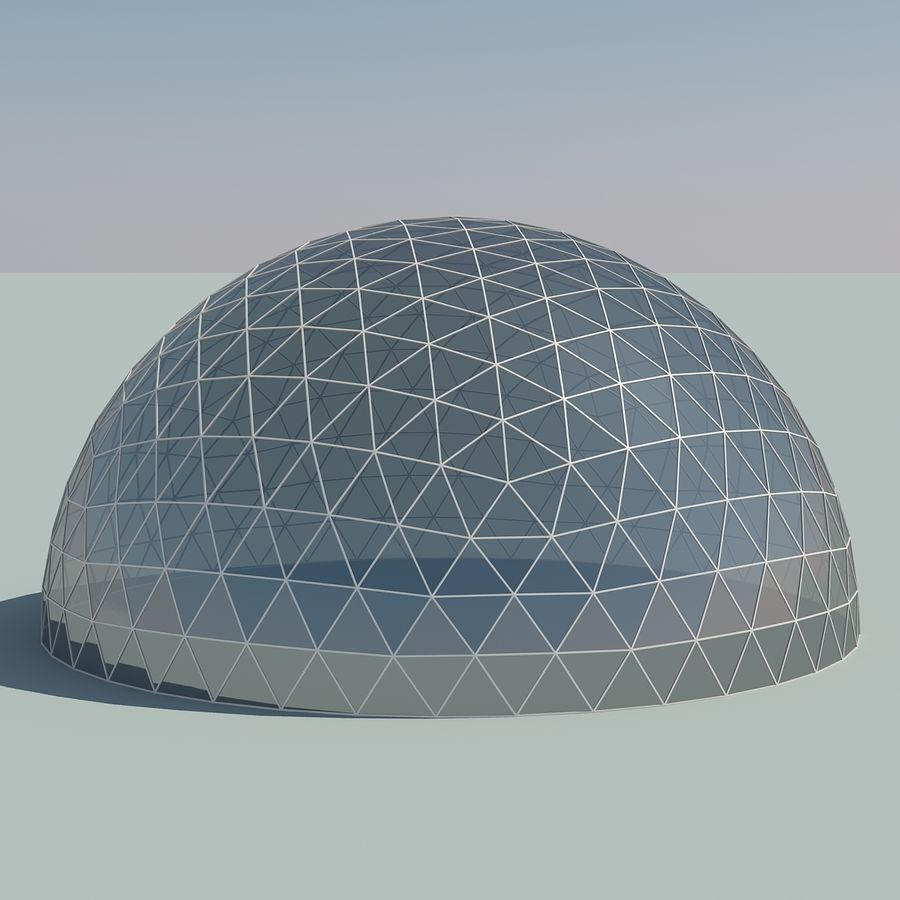 Geodesic Domes royalty-free 3d model - Preview no. 6