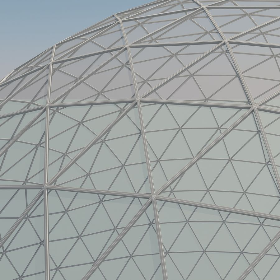 Geodesic Domes royalty-free 3d model - Preview no. 10