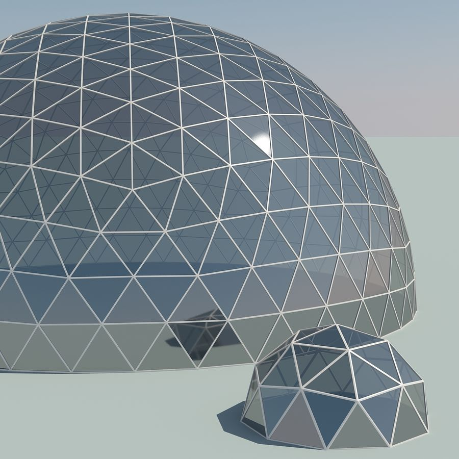 Geodesic Domes royalty-free 3d model - Preview no. 3