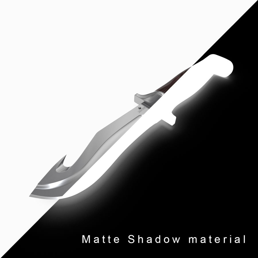 Knife royalty-free 3d model - Preview no. 7