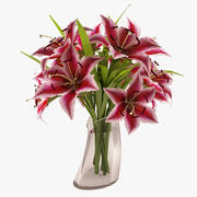 Flower - Lily Pink Beauty 3d model