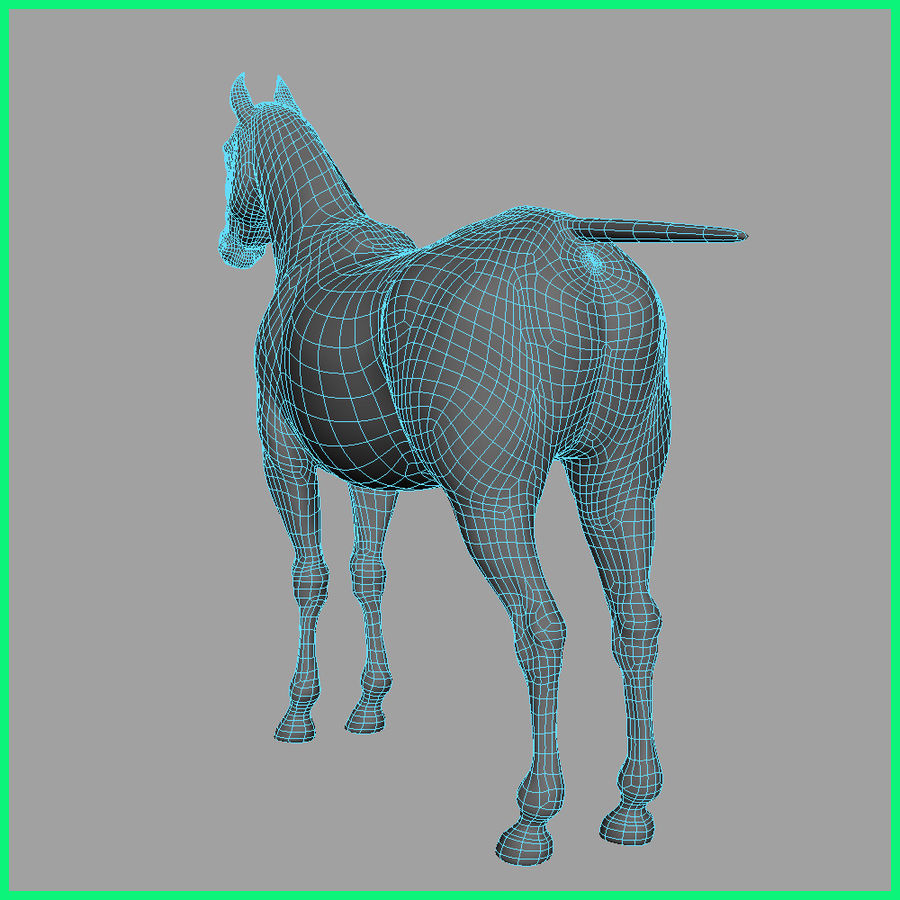 horse royalty-free 3d model - Preview no. 11