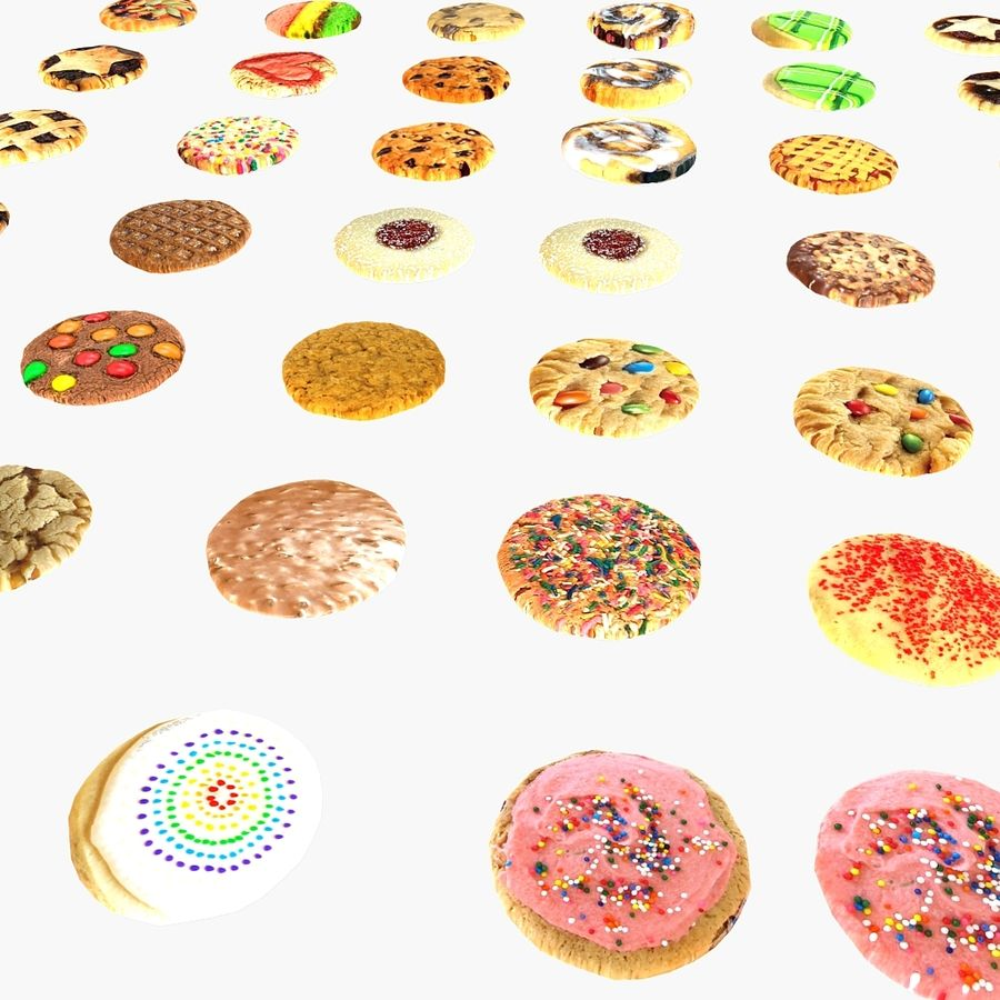 Bake Holiday Cookies Sweet Mince On Plate Collection royalty-free 3d model - Preview no. 17