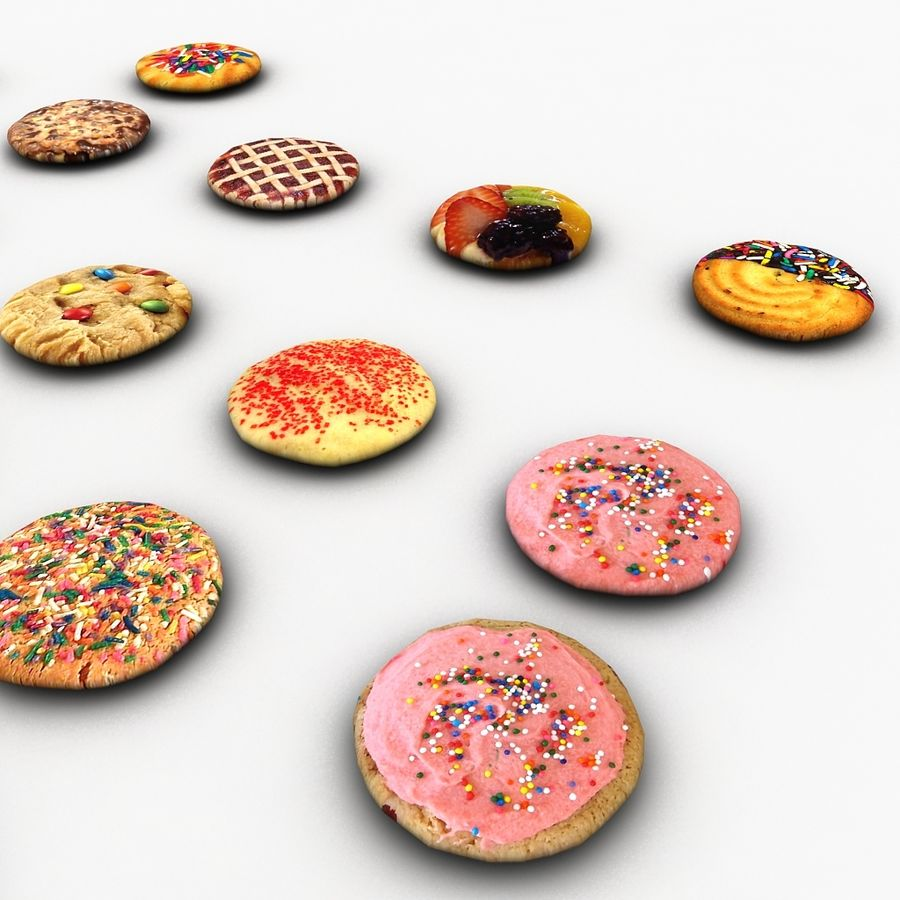 Bake Holiday Cookies Sweet Mince On Plate Collection royalty-free 3d model - Preview no. 20