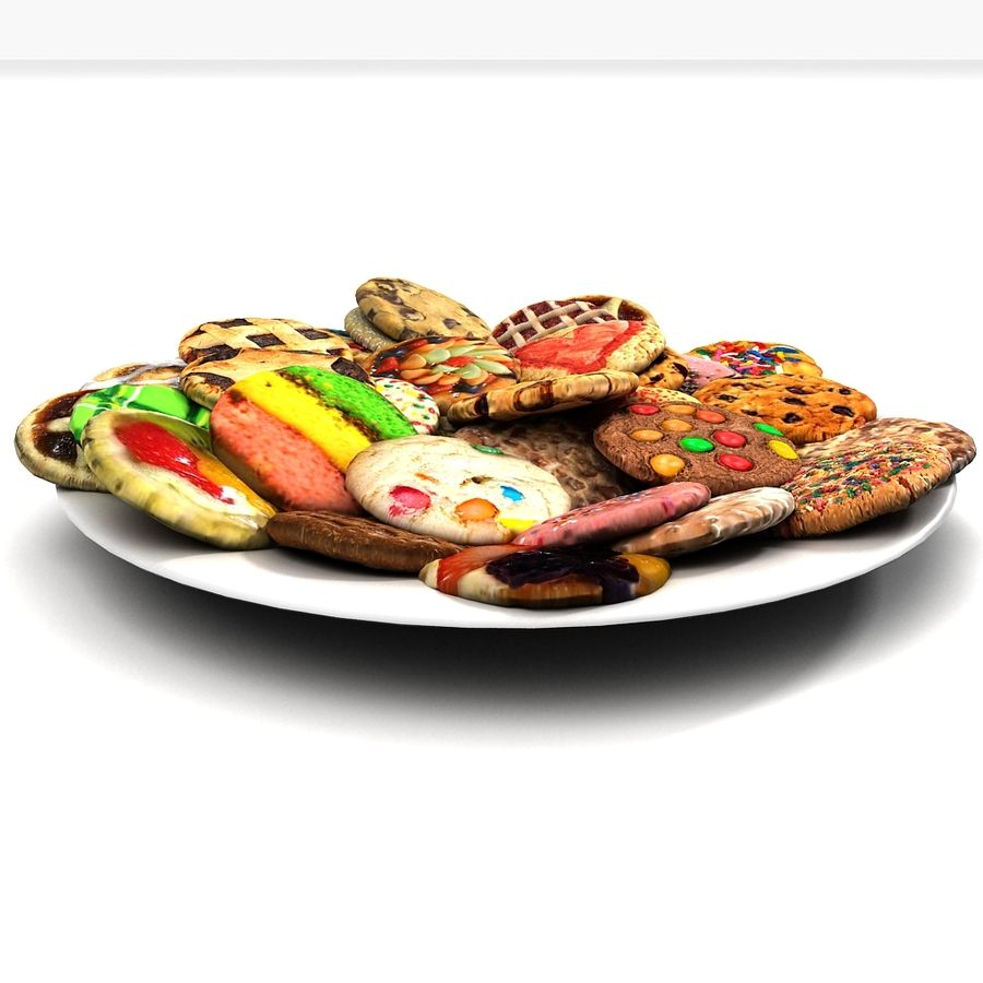 Bake Holiday Cookies Sweet Mince On Plate Collection royalty-free 3d model - Preview no. 3