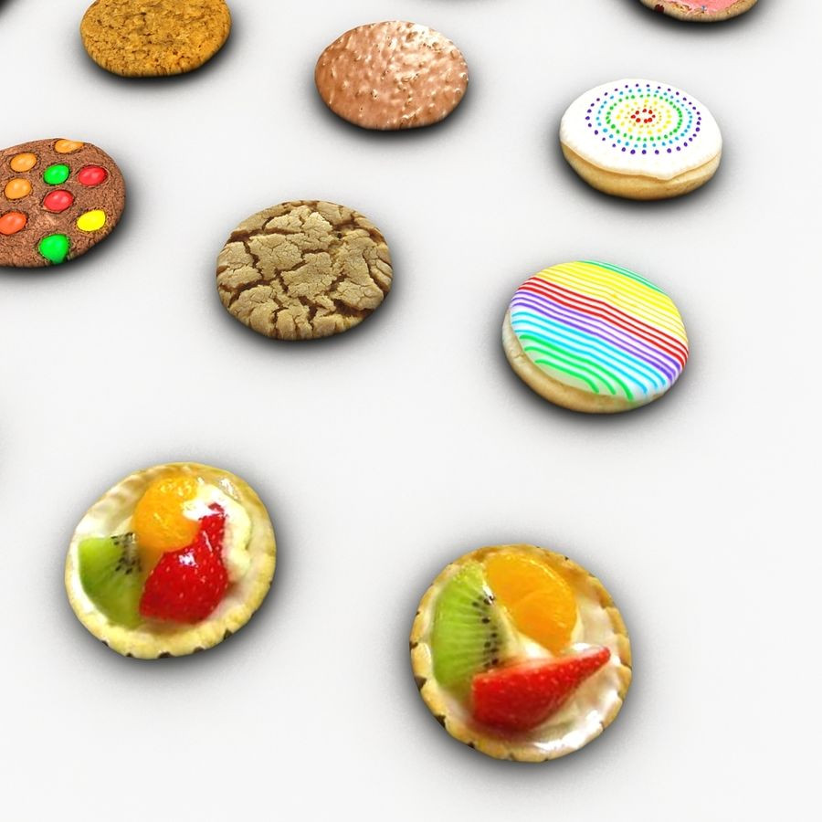 Bake Holiday Cookies Sweet Mince On Plate Collection royalty-free 3d model - Preview no. 21
