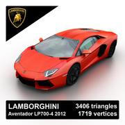 Lamborghini Aventador LP700-4 2012 3d model