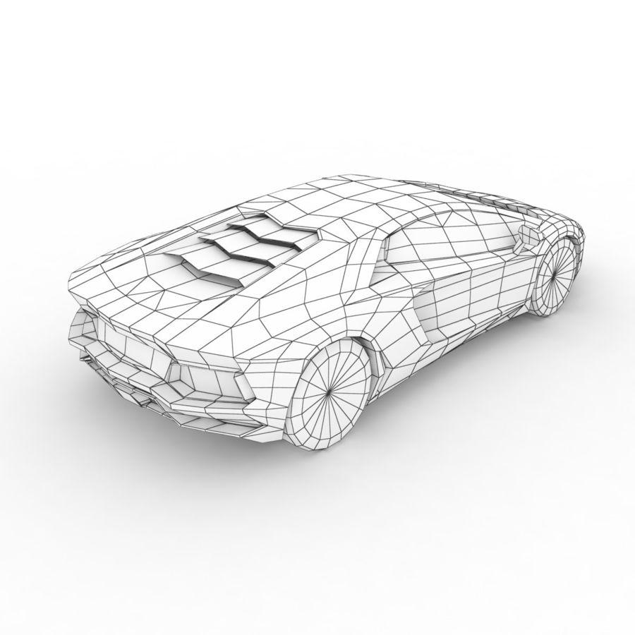 Lamborghini Aventador LP700-4 2012 royalty-free 3d model - Preview no. 7