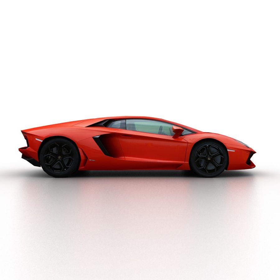 Lamborghini Aventador LP700-4 2012 royalty-free 3d model - Preview no. 3