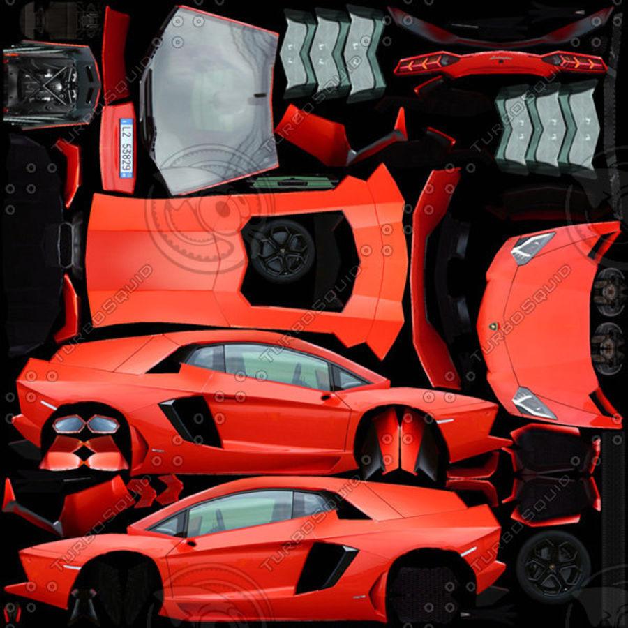Lamborghini Aventador LP700-4 2012 royalty-free 3d model - Preview no. 8