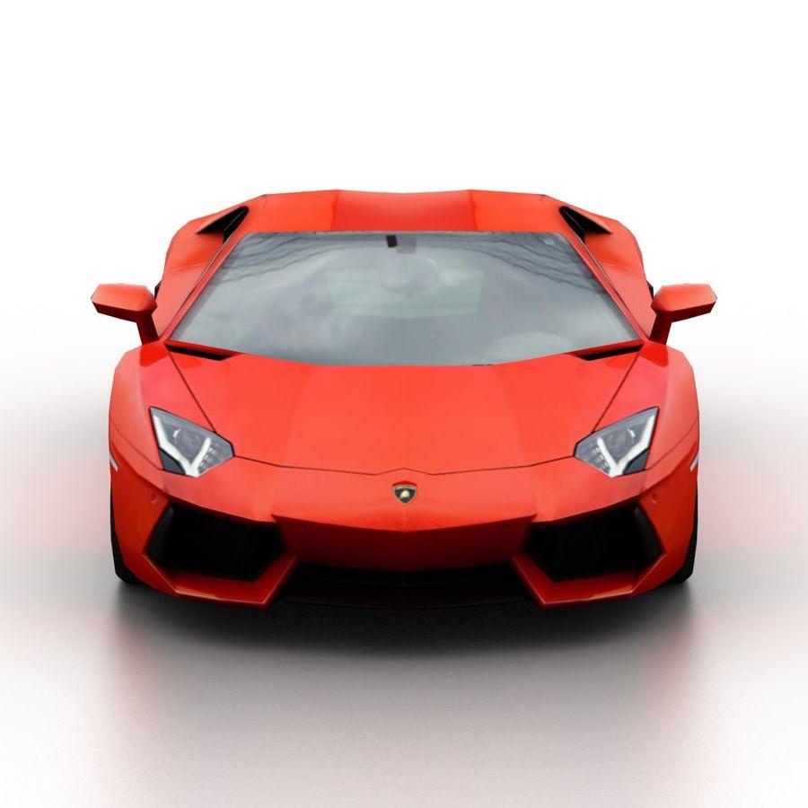 Lamborghini Aventador LP700-4 2012 royalty-free 3d model - Preview no. 4