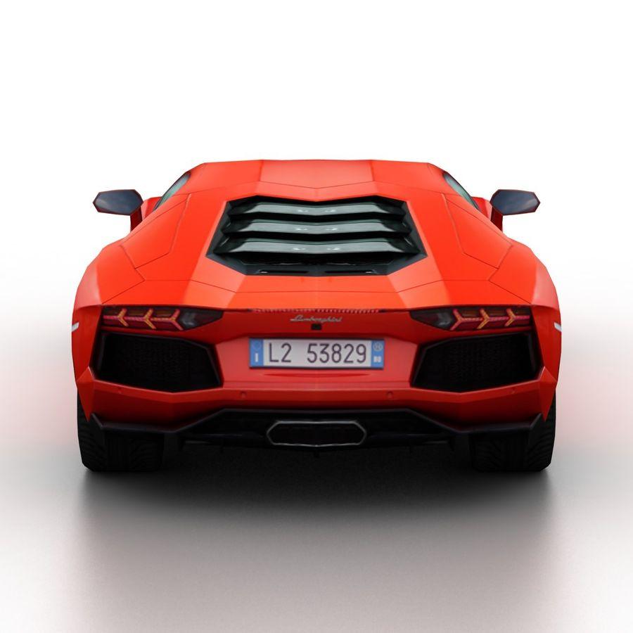Lamborghini Aventador LP700-4 2012 royalty-free 3d model - Preview no. 5