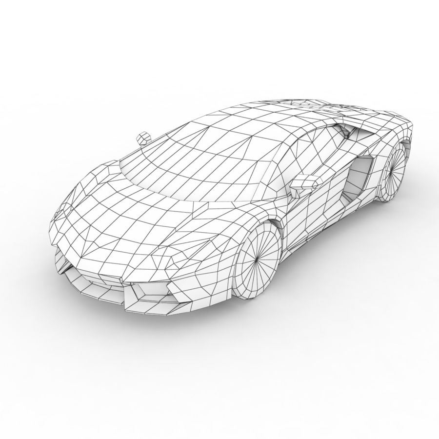 Lamborghini Aventador LP700-4 2012 royalty-free 3d model - Preview no. 6