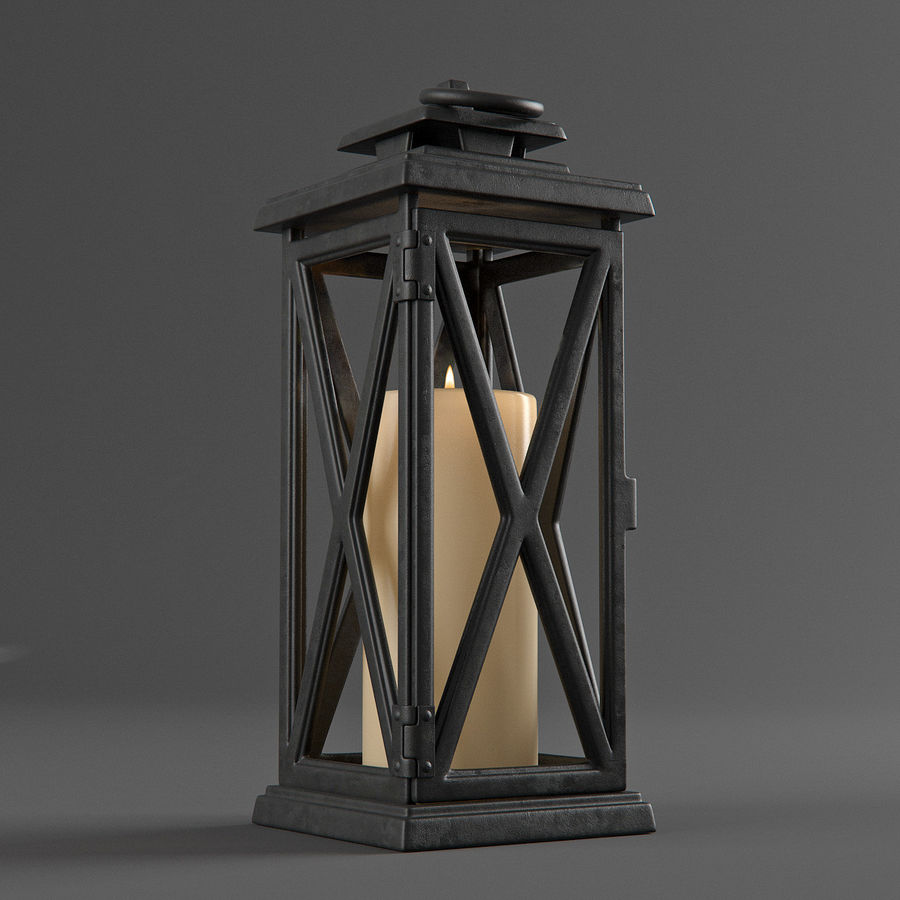 Lantern 3 royalty-free 3d model - Preview no. 4