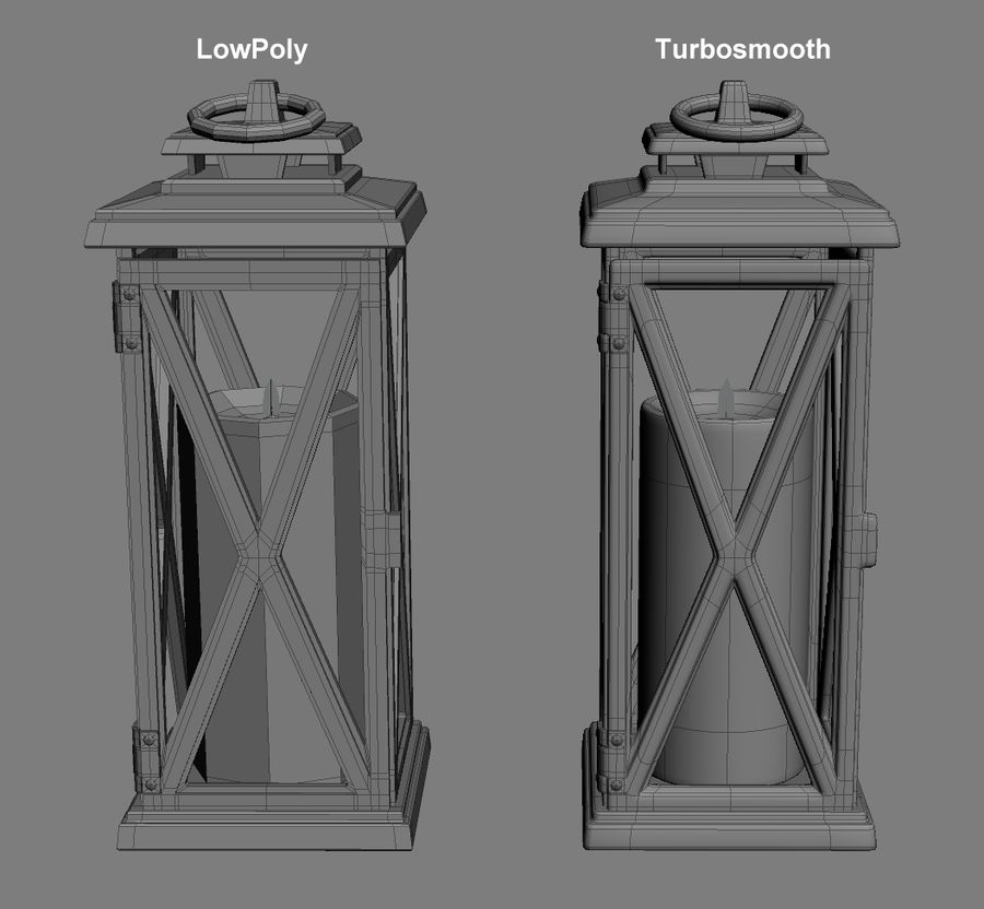 Lantern 3 royalty-free 3d model - Preview no. 1