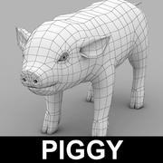 새끼 돼지 3d model