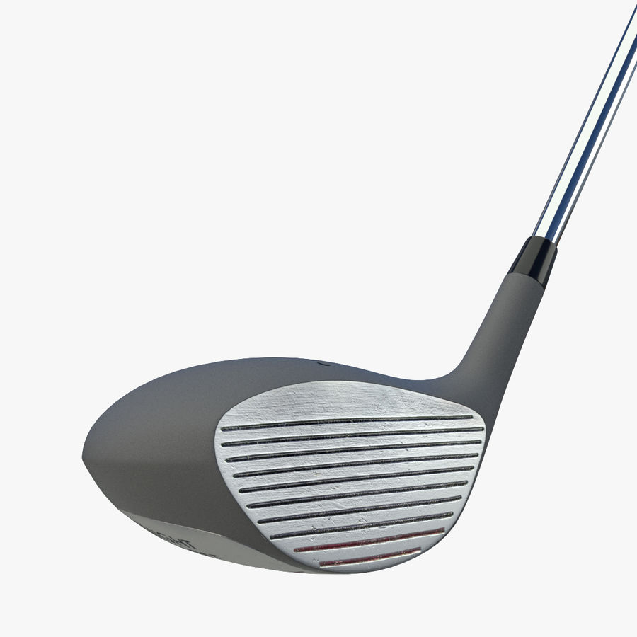 Driver Golf Club royalty-free 3d model - Preview no. 6