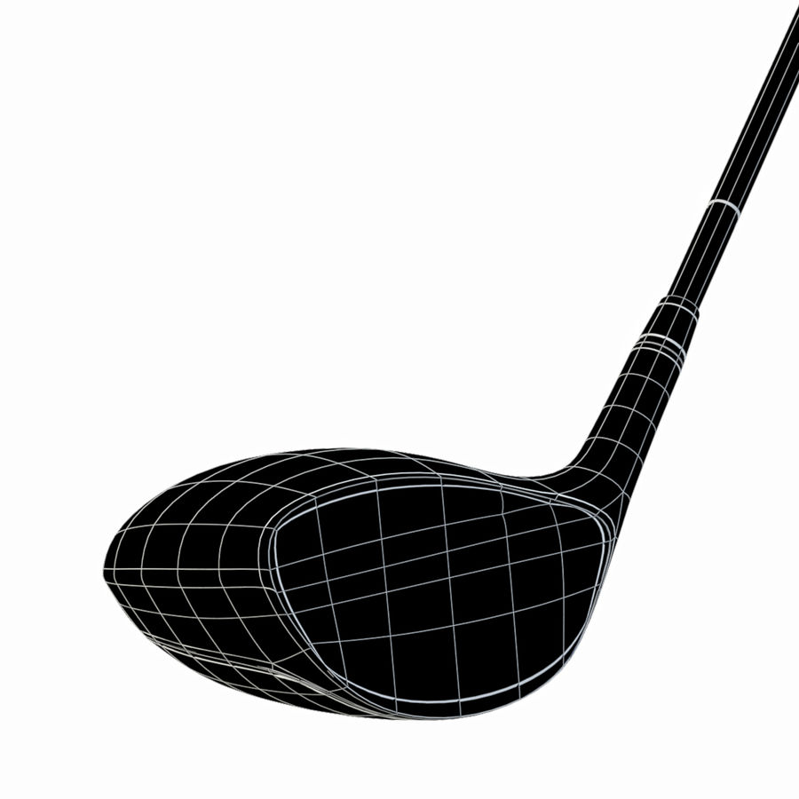 Driver Golf Club royalty-free 3d model - Preview no. 12