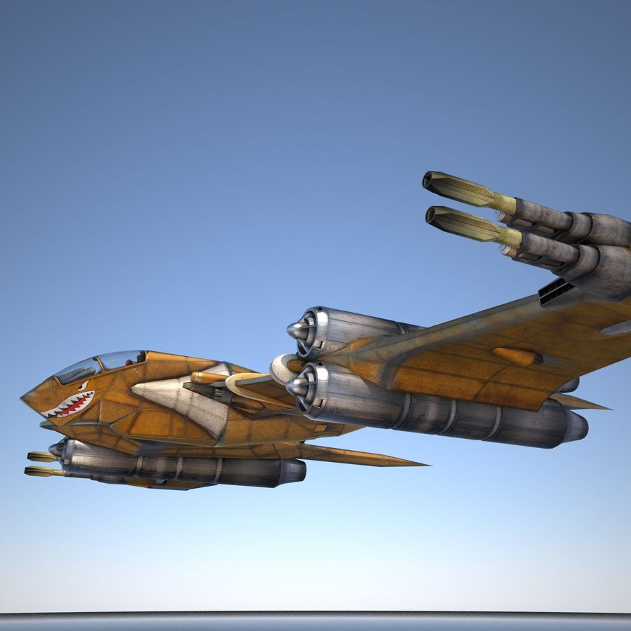 T-Fighter Spacefighter (maxwell materials) royalty-free 3d model - Preview no. 18