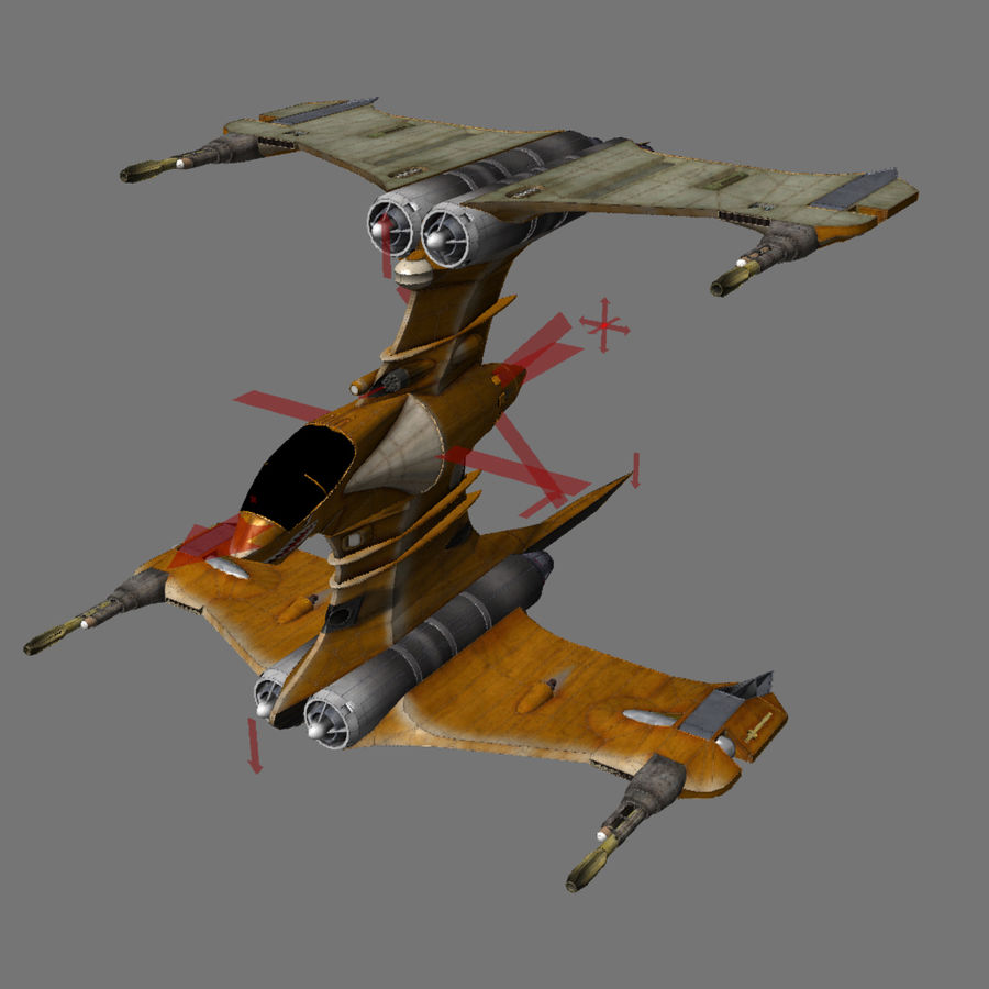 T-Fighter Spacefighter (maxwell materials) royalty-free 3d model - Preview no. 54