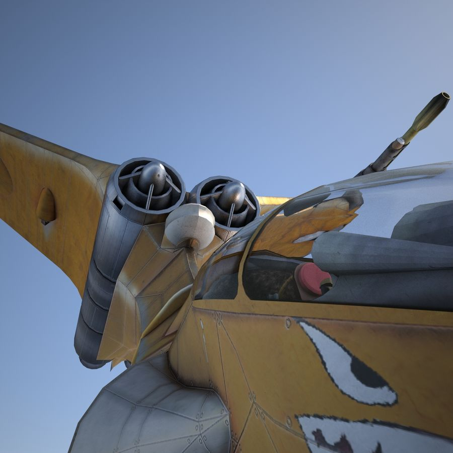 T-Fighter Spacefighter (maxwell materials) royalty-free 3d model - Preview no. 40
