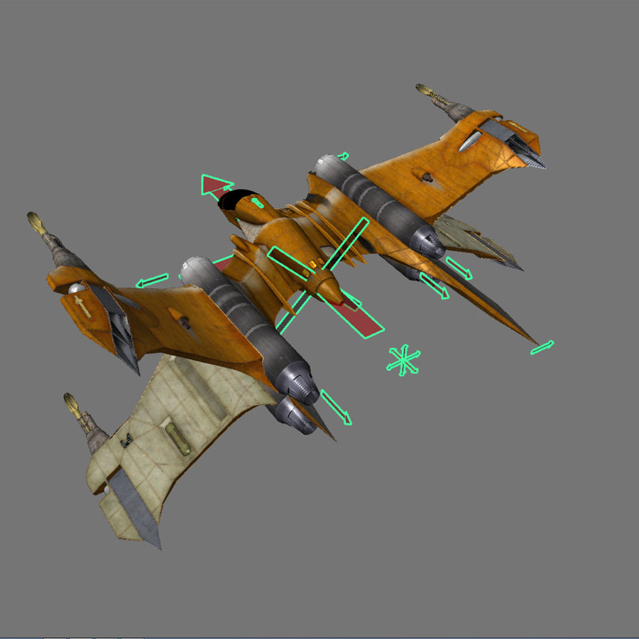 T-Fighter Spacefighter (maxwell materials) royalty-free 3d model - Preview no. 55