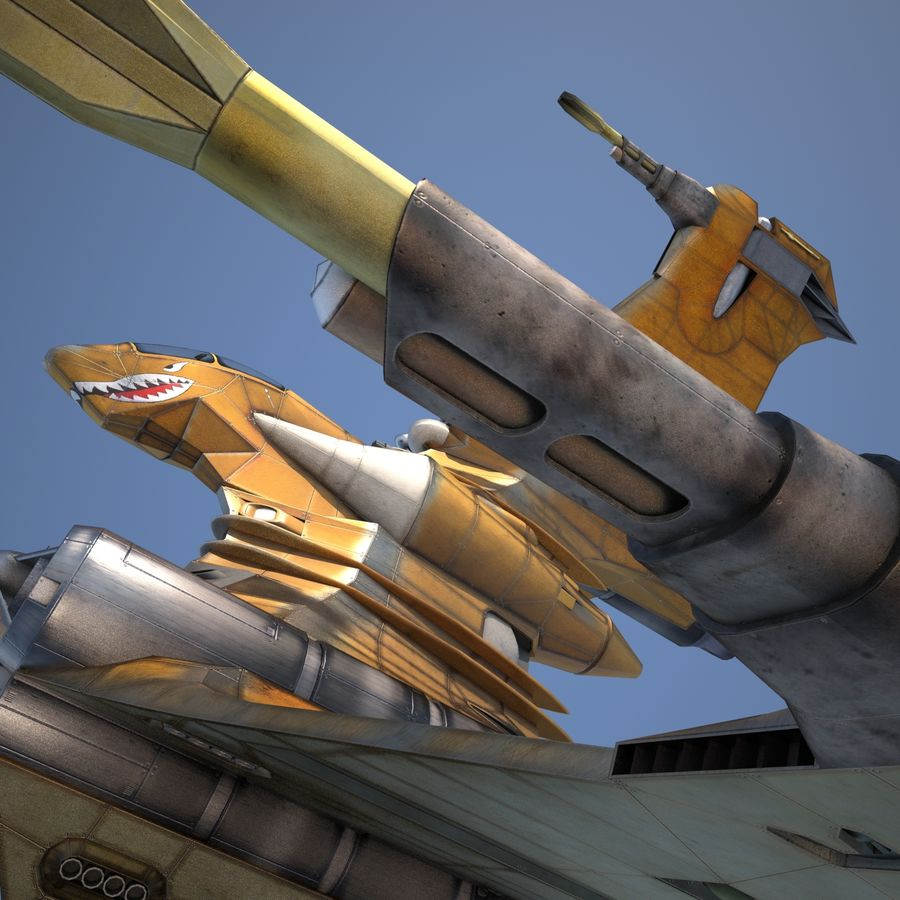 T-Fighter Spacefighter (maxwell materials) royalty-free 3d model - Preview no. 39
