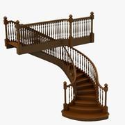 木楼梯 3d model