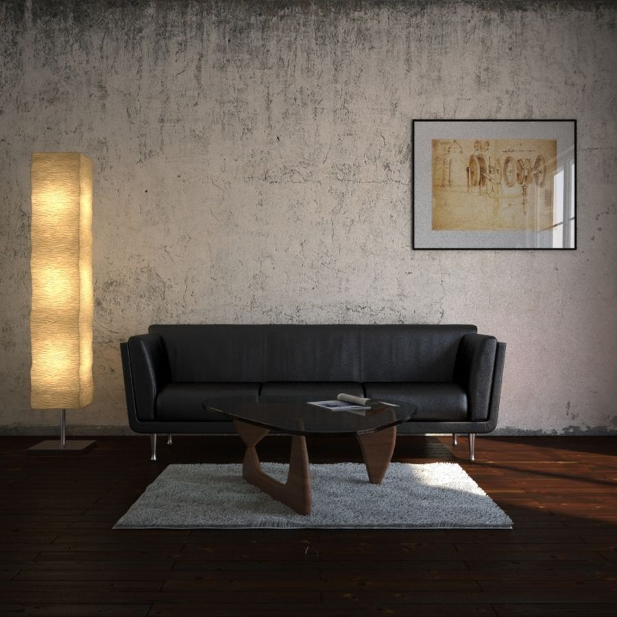 Interior Scene royalty-free 3d model - Preview no. 1