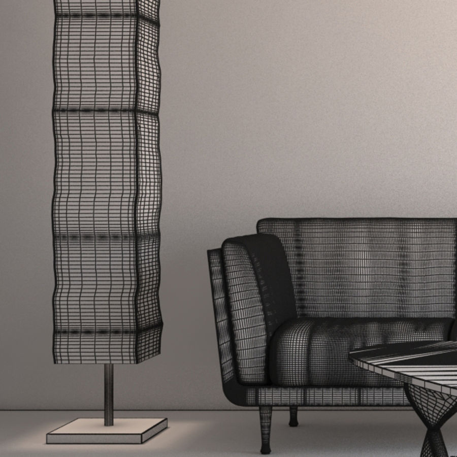 Interior Scene royalty-free 3d model - Preview no. 6