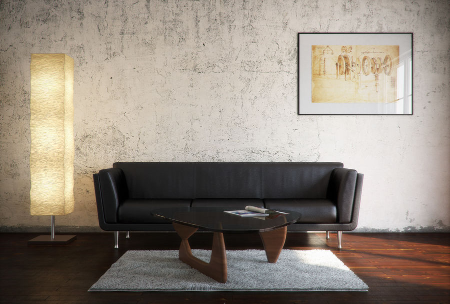 Interior Scene royalty-free 3d model - Preview no. 9