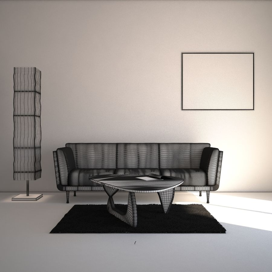 Interior Scene royalty-free 3d model - Preview no. 8