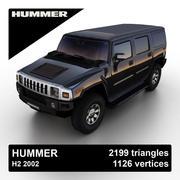 Hummer H2 2002 3d model