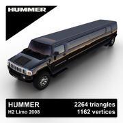 Hummer H2 Limo 2008 3d model